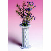 Periwinkle Vase 3D Cross Stitch Kit