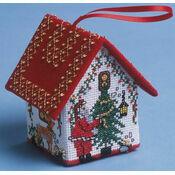Dressing the Tree Santa House 3D Cross Stitch Kit