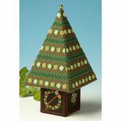 Red & Gold Tall Tree 3D Cross Stitch Kit