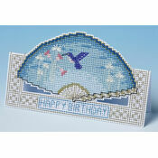 Birthday Fan Card 3D Cross Stitch Kit