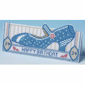 Birthday Shoe Card 3D Cross Stitch Kit