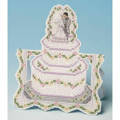 Wedding Cake Card 3D Cross Stitch Kit