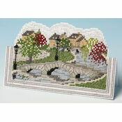 English Village Card 3D Cross Stitch Kit