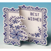 The Nutmeg Company Blue Pagoda 3D Counted Cross Stitch Greeting Card Kit
