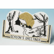 Midwinter Christmas Card 3D Cross Stitch Kit