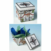 Road Map Exploding Box 3D Cross Stitch Kit