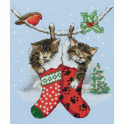 Christmas Kittens Cross Stitch Kit