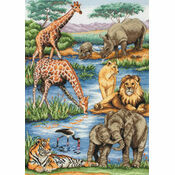 African Wildlife Cross Stitch Kit
