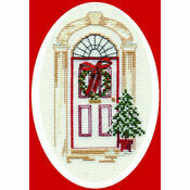 Christmas Door Cross Stitch Card Kit