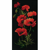 The Poppies Cross Stitch Kit