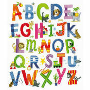 Children\'s Alphabet Sampler Cross Stitch Kit