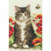 Cat & Bee Cross Stitch Starter Kit