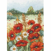 Poppy Field Cross Stitch Starter Kit