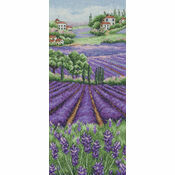 Provence Lavender Landscape Cross Stitch Kit