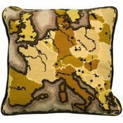 Sepia Map Cushion Panel Tapestry Kit