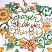 Prayer Changes Things Cross Stitch Kit