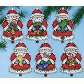 Santa\'s Gifts Christmas Ornament Cross Stitch Kit