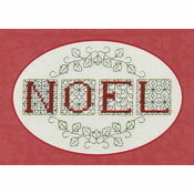 Noel Christmas Card Cross Stitch Kit