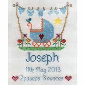 New Baby Boy Sampler Cross Stitch Kit