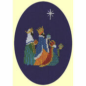 Three Kings Cross Stitch Christmas Card Kit