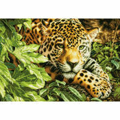 Leopard In Repose Cross Stitch Kit