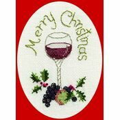 Christmas Cheer Christmas Card Cross Stitch Kit