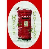 Christmas Post Christmas Card Cross Stitch Kit