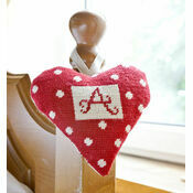 Red Alphabet Lavender Heart Tapestry Kit