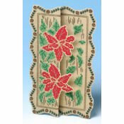 Poinsettia 3D Cross Stitch Card Kit