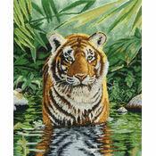 Tiger Pool Cross Stitch Kit