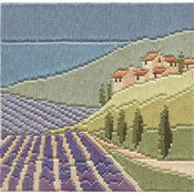 Lavender Fields Long Stitch Kit