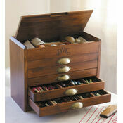 DMC Wooden Collectors Box Now With 500 Skeins Of Stranded Cotton Thread