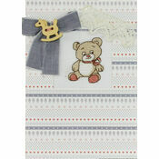 Rockinghorse Bear Cross Stitch Card Kit