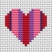Easy Peasy Heart Cross Stitch Kit