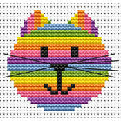 Sew Simple Cat Head Cross Stitch Kit