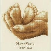 Tiny Feet Birth Sampler Cross Stitch Kit