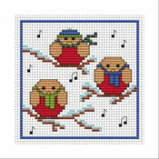 Rockin' Robins Cross Stitch Christmas Card Kit
