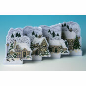 White Christmas De-Luxe 3D Cross Stitch Card Kit