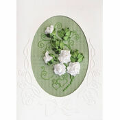 Cross Stitch & Ribbons Wedding Card Kit