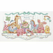 Toy Shelf Birth Record Cross Stitch Kit