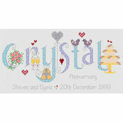 Crystal Anniversary Cross Stitch Kit