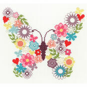 Butterfly Bouquet Cross Stitch Kit