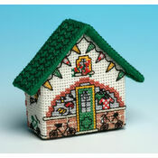 Bike Shop 3D Fridge Magnet Cross Stitch Kit