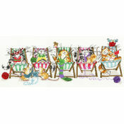 Kitty Knit Cross Stitch Kit