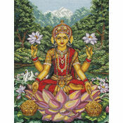Goddess Lakshmi Cross Stitch Kit