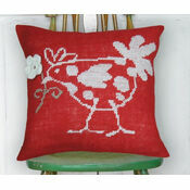 Red Hen Premium Half Cross Stitch Cushion Kit