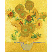 Van Gogh - Sunflowers Cross Stitch Kit