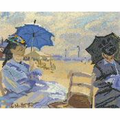 Claude Monet - The Beach At Trouville Cross Stitch Kit