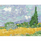 Van Gogh - A Wheatfield With Cypresses Cross Stitch Kit