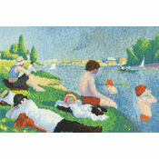 Seurat - Bathers At Asnieres Cross Stitch Kit